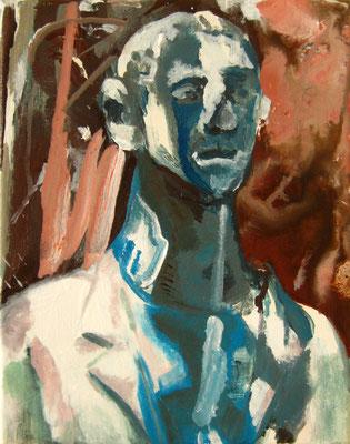 Ein junger Mann, 20x25cm, Acryl auf Leinwand, 2016