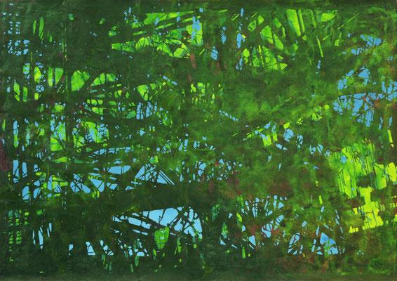 Grün I, 2019, Acryl auf Papier, 85 x 115 cm