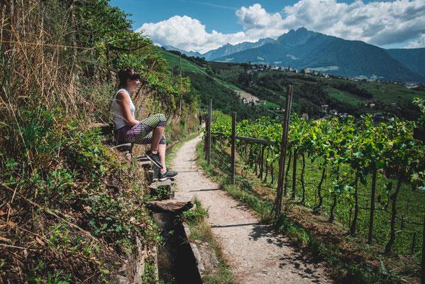 Algunder Waalweg (Wandertipp, Familienwanderung: Algund, Meran, Südtirol)