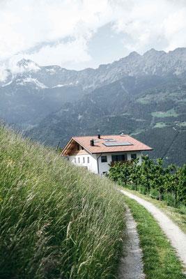 Waalwanderung in Südtirol: Marlinger Waalweg und Marlinger Höhenweg, bei Meran - zwischen Töll und Lana