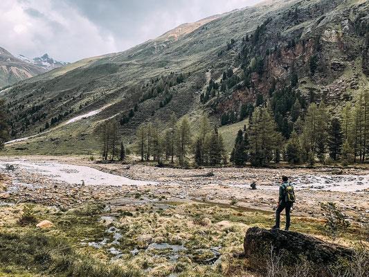 Wandern im Obervinschgau, Langtauferner Tal: von Melag zur Weißkugelhütte