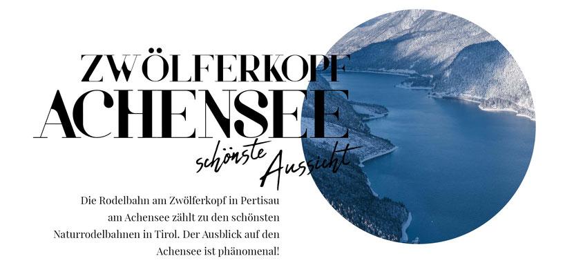 Die Rodelbahn am Zwölferkopf in Pertisau am Achensee zählt zu den schönsten Naturrodelbahnen in Tirol. Der Ausblick auf den Achensee ist phänomenal! #mountainhideaways #rodelbahn #tirol #achensee