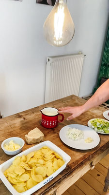 Kochrezept | Südtiroler Küche | Christoph Huber | Rindsfilet auf Kartoffel-Lauch-Gratin
