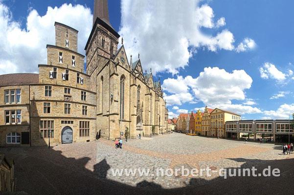 Osnabrück - Blick von der Rathaustreppe