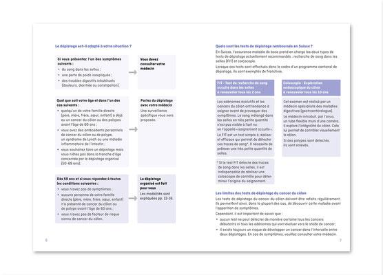 Dépistage du cancer du côlon - Programme vaudois et genevois. Brochure, double page