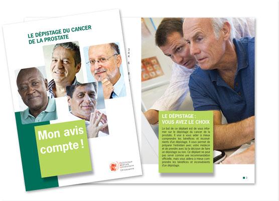 Dépistage du cancer de la prostate - Programme vaudois. Brochure A5