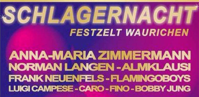 Helene Fischer Double Caro mit Anna Maria Zimmermann, Almklausi und Norman Langen