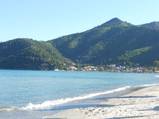 Golden Beach an der Ostküste von Thasos