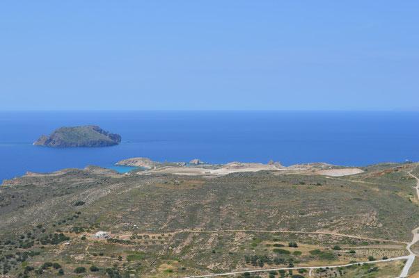 Aussicht vom Kastro-Hügel auf die Mine Trachilas