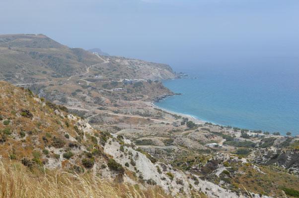 Aussicht vom Fyriplaka auf den Strand Agia Kyriaki