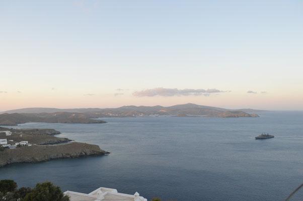 Aussicht vom Kastro Richtung Maltezana