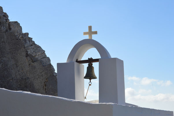 Kapelle zwischen Filoti und Apiranthos mit wunderbarer Aussicht aufs Meer und Paros