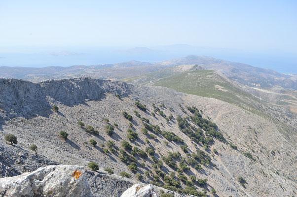 Aussicht vom Gipfel nach Süden