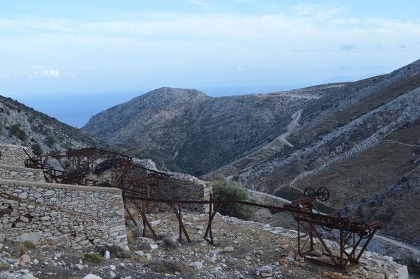 Abbau und Verladestation in der Nähe von Moutsouna