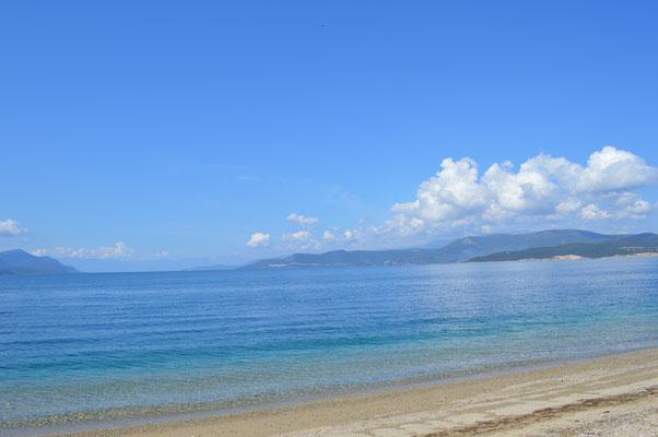 Strand von Agiokampos