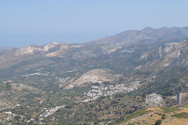 Aussicht vom Gipfel nach Filoti