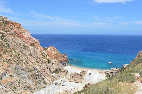 Minengelände mit Strand