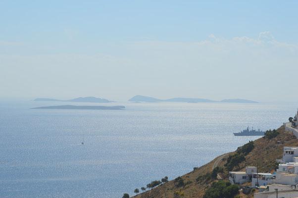 Die Inseln von Astypalaia aus