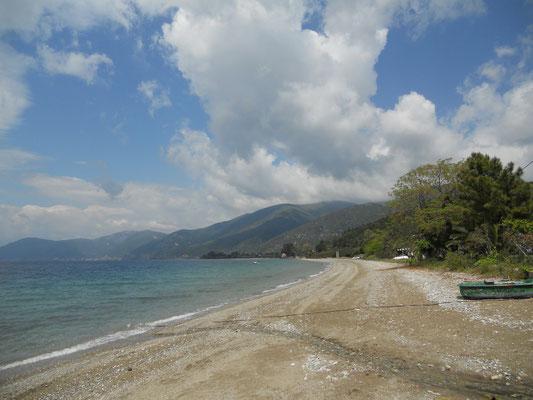 Strand von Porto Lafia nördlich von Marmari