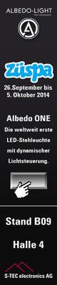 Internet-Werbebanner für eine LED-Leuchte