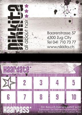 Visitenkarte für einen Frisiersalon (Variante 1/2)