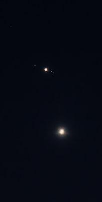 D7000  |  f/6.3  |  1/2s  |  ISO-1600  |  500mm  |  Jupiter & Venus