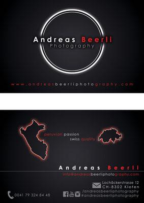 Visitenkarte für einen Fotografen