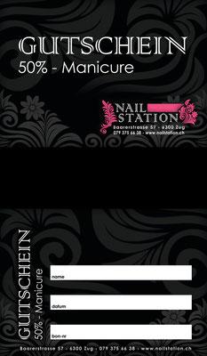 Gutschein für eine Nail-Artistin (www.nailstation.ch)