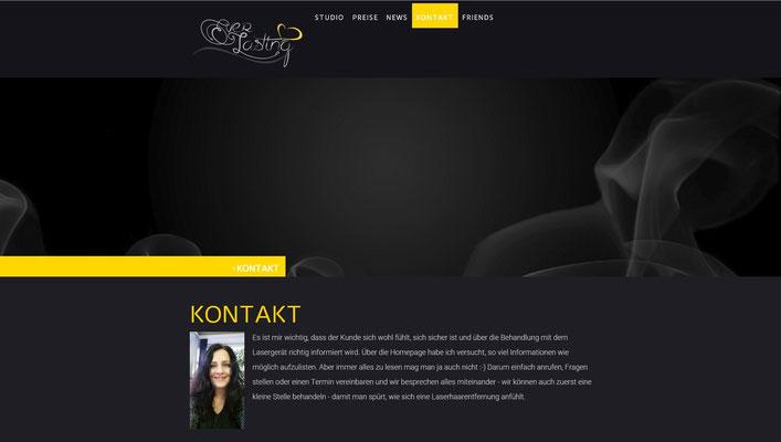Website eines Beautysalons für Laserhaarentfernung (www.everlasting.ch)