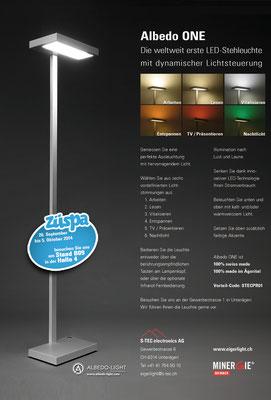 A4-Werbeinserat für eine LED-Leuchte