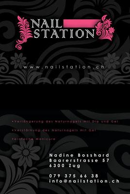 Visitenkarte für eine Nail-Artistin (www.nailstation.ch)