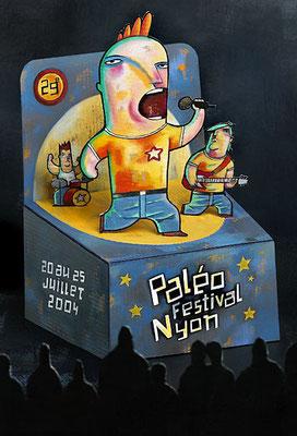 Paléo Festival, concours d'affiche, projet ©2003