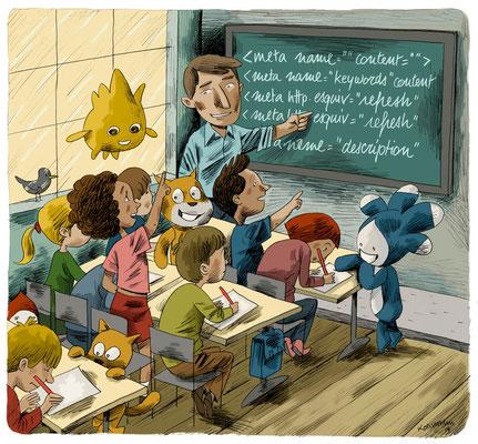 Le Temps - Apprendre à coder à l'école. ©2014
