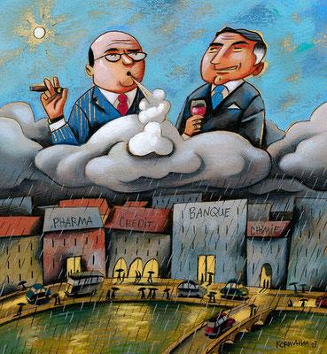 Le Temps - Le choc des gros salaires. ©2013
