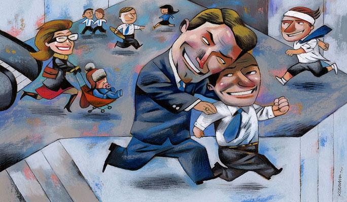L'Hebdo. Le soft management. ©2010