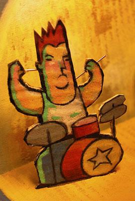 Paléo Festival, concours d'affiche, projet. Détail. ©2003