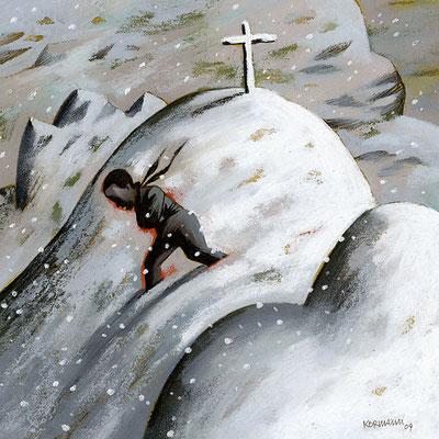 Le Temps - Le mort du Diemtigtal, un sans-papiers retrouvé mort en montagne. ©2009