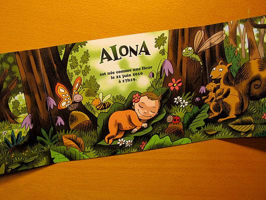 Faire-part de la naissance d'Alona ©2010