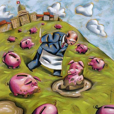 Le Temps - Berne et le problème de l'argent sale en Suisse. ©2012