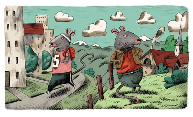 Le Temps - Suisse alémanique - la nostalgie du village. ©2015