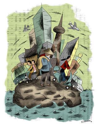 Le Temps - Couverture dossier fonds de placement. ©2010