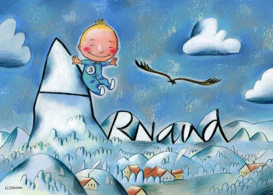 Faire-part de la naissance de Arnaud ©2013