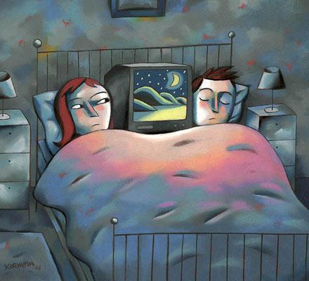 TV8. La télé dans la chambre à coucher. ©2006