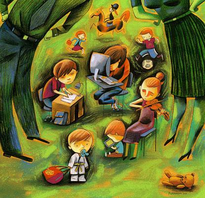 L'Hebdo. Stress, les enfants eux aussi surmenés. ©2011