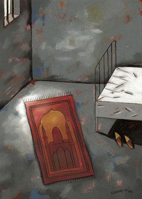 Le Temps - L'islam en prison. ©2004