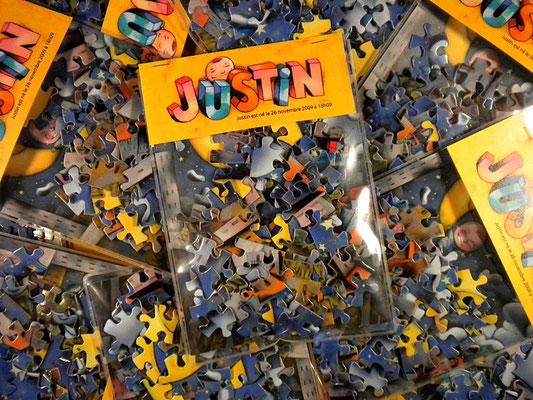 Faire-part de la naissance de Justin ©2009