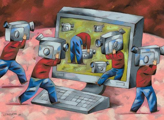 Le Temps - YouTube, échange de vidéos sur le net. ©2006