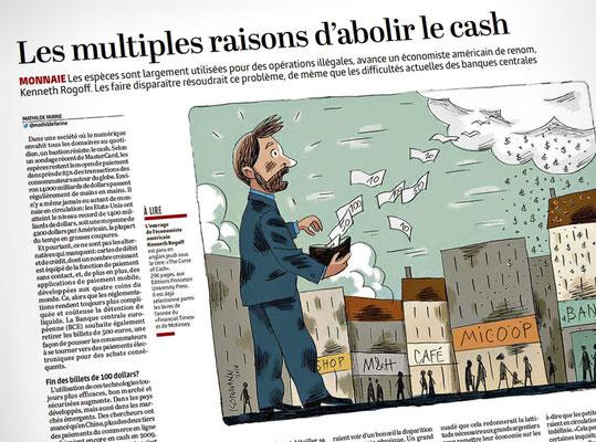 La fin du cash. Kormann - Le Temps ©2016