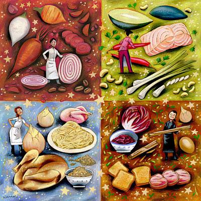 Le Temps - 4 femmes-chefs, 4 recettes de fin d'année. ©2011
