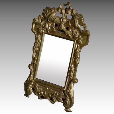 petit miroir bronze doré